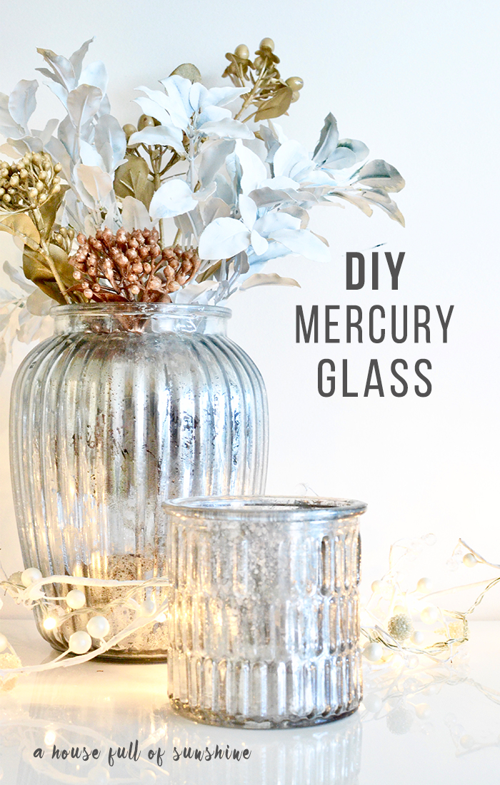 DIY faux mercury glass tutorial - so easy and gorgeous!