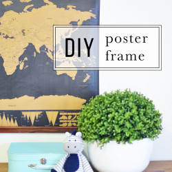 Simple DIY poster frame