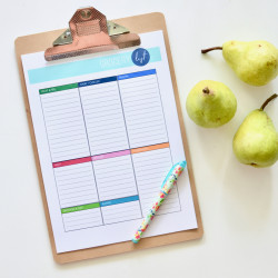 Wanna get organised with me?… and a FREE grocery list printable