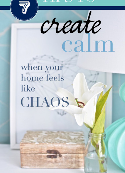 7 tips to create calm