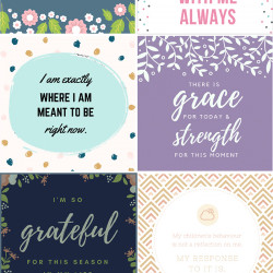 FREE printable affirmation cards for mothers