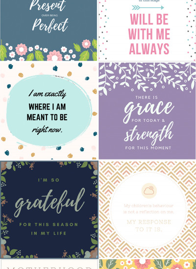 Mother's Day affirmation cards