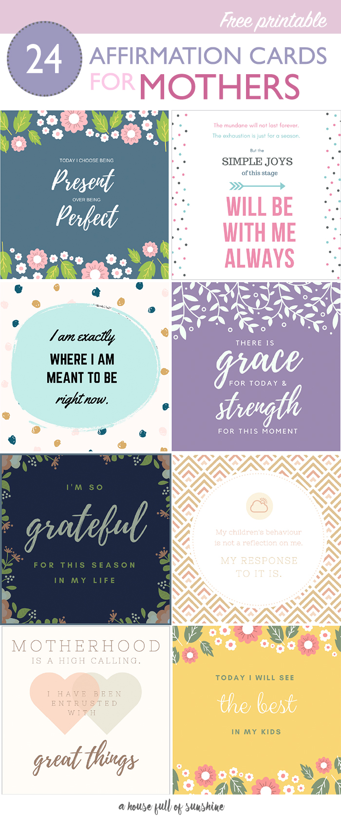 photo about Free Printable Affirmation Cards referred to as Free of charge printable confirmation playing cards for moms A Home Finish