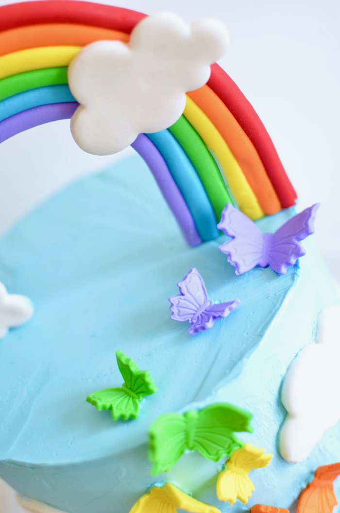 Fantastic How To Make A Rainbow Birthday Cake A House Full Of Sunshine Funny Birthday Cards Online Elaedamsfinfo