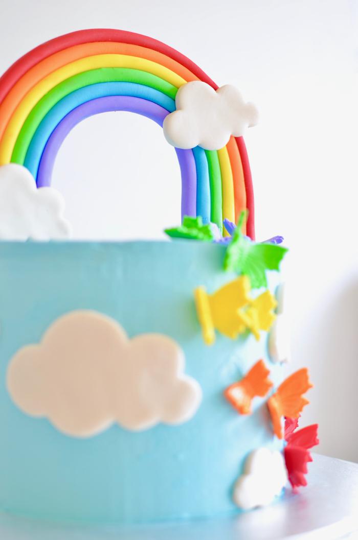 How to make a rainbow birthday cake