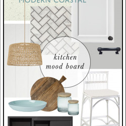 {THE BUILD!} Modern Coastal kitchen mood board (and progress pics!)