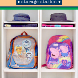School bag storage station