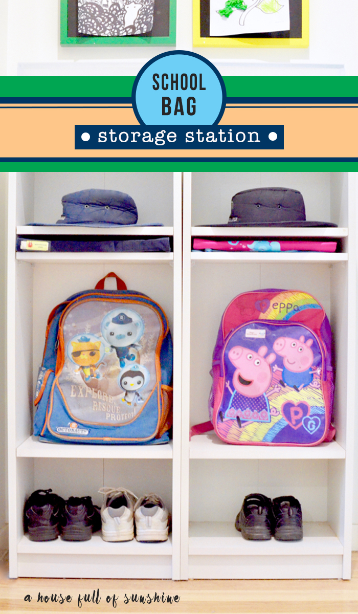 School bag storage station