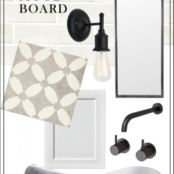 {THE BUILD!} Bathroom mood board and progress pics