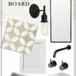 {THE BUILD!} Bathroom mood board and progress pics