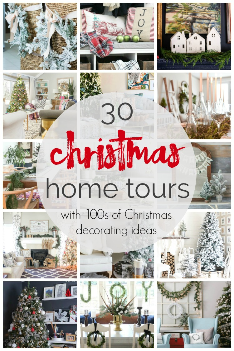 30 christmas home tours with 100s of christmas decorating ideas | A ...