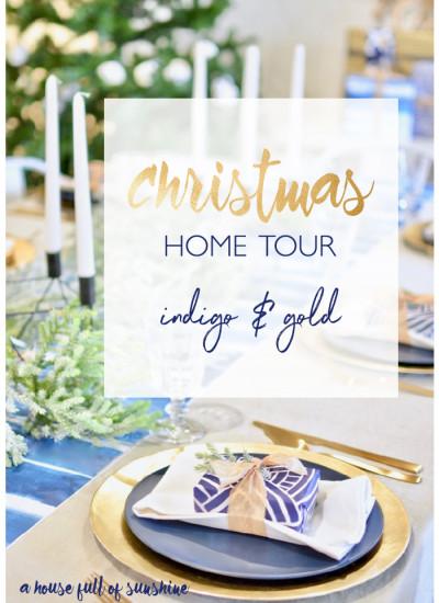 Christmas Indigo and Gold