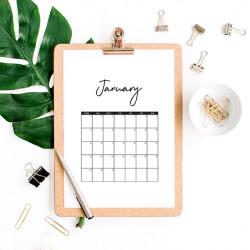 FREE printable 2018 calendar!