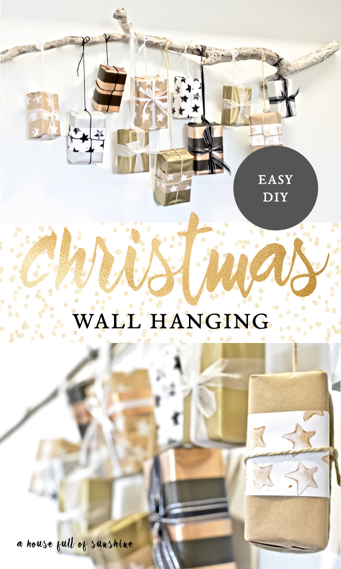 Christmas gift wall hanging
