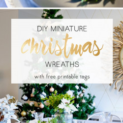 DIY miniature Christmas wreaths
