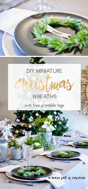 DIY Miniature Christmas wreaths