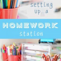 Setting up a homework station