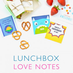 Lunchbox love notes {FREE printable!}