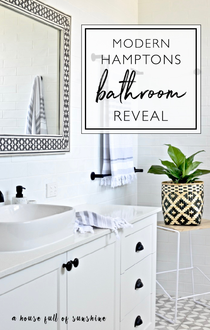 Modern Hamptons bathroom