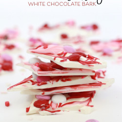 Valentine's Day White Chocolate Bark