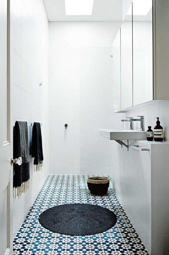 Patterned Bathroom Tile