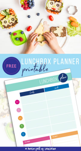 Lunchbox planner printable