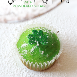 How to Make Powdered Sugar Shamrock Cupcakes
