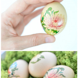 Tattooed floral Easter eggs