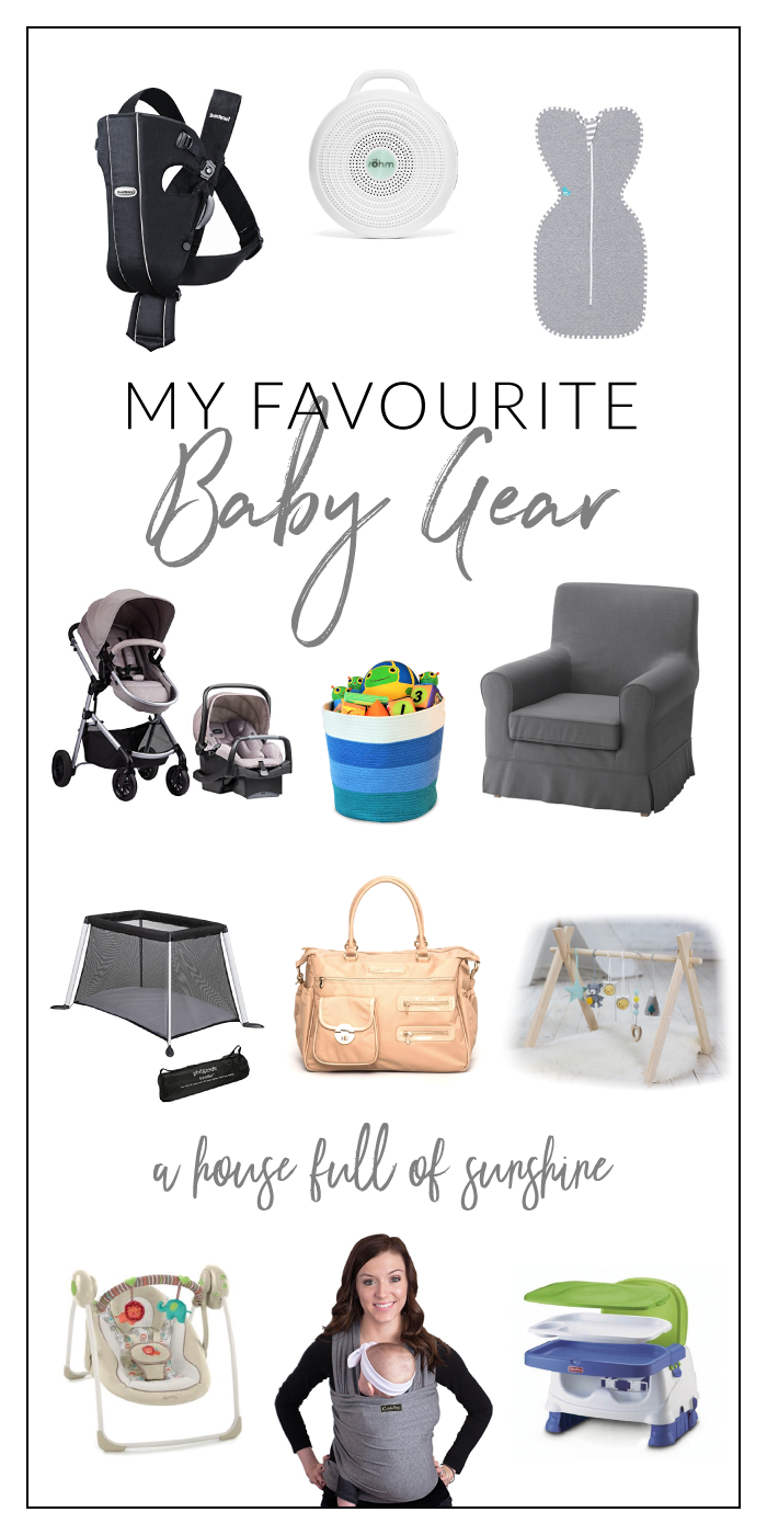 I've rounded up my favourite baby gear. Click here to see my must-haves!
