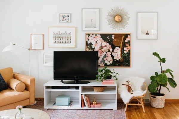Your TV doesn't have to be an eyesore - click here to see a roundup of inspiring ways to decorate around a TV.