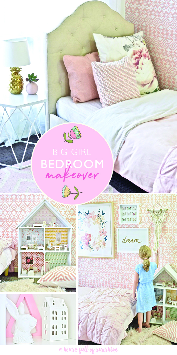 Big girl bedroom makeover (with VIDEO!) | A House Full of ...