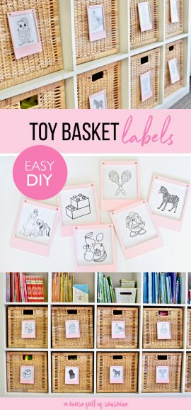 Toy basket labels
