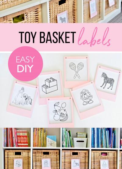 Toy basket labels