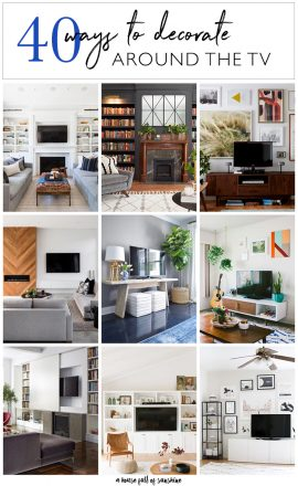 40 ideas for decorating around the TV
