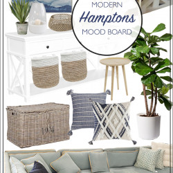 Hamptons living and dining mood board