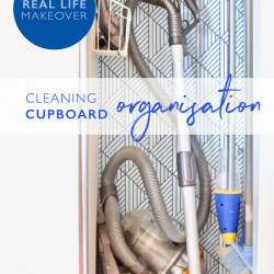 Cleaning cupboard makeover