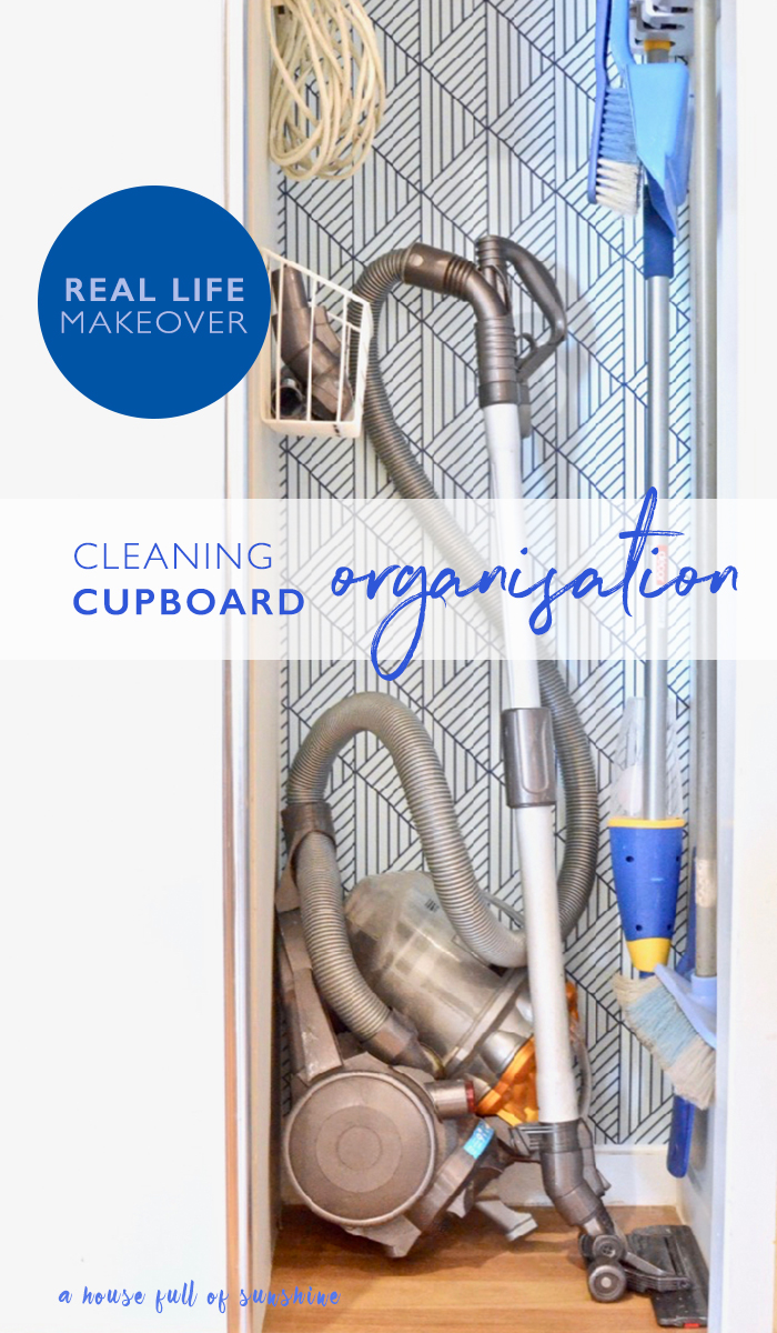 Cleaning cupboard organisation