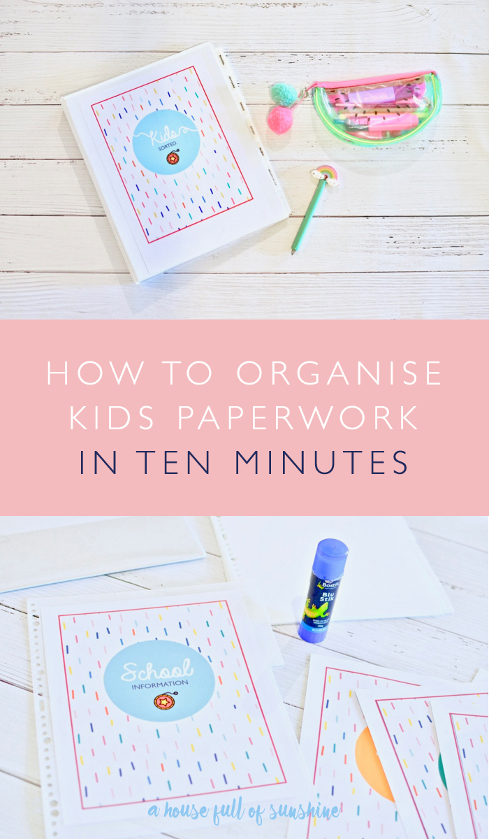 Kids paperwork