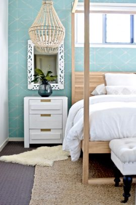 Boho beachy bedroom