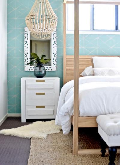 Boho beachy bedroom